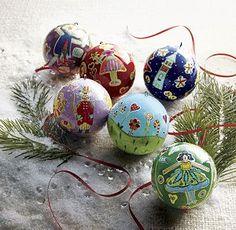 Handpainted Nutcracker Ornaments Set of Six