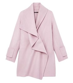 blush pink Vince Drape Neck Coat