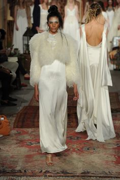Houghton Saffron Jacket & Raven Gown #houghton #houghtonnyc #houghtonbride