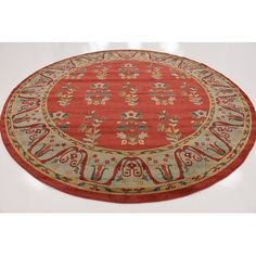 """World Menagerie Foret Noire Red Area Rug Rug Size: 10'6"""" x 16'5"""""""