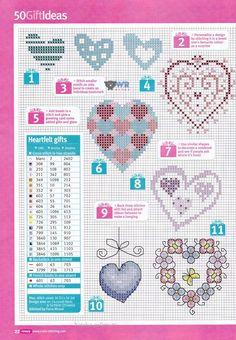 WR Ponto Cruz Gráficos: Corações