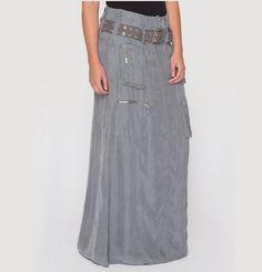 Long cargo skirt.