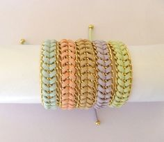 Pastel+Sorbet+Stacking++Fashion+Bracelets++in+Mint+by+LLetcetera,+€15.00