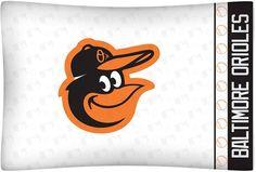 Baltimore Orioles Bird Pillowcase