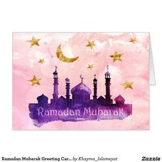 Shop Ramadan Mubarak Greeting Cards created by Khayma_Islameyat. Ramadan Mubarak Wallpapers, Mubarak Ramadan, Ramadan Cards, Ramadan Greetings, Iftar Party, Quran Wallpaper, Ramadan Decorations, Wallpaper Pictures, Custom Greeting Cards