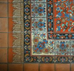 Iran.  Ceramic Tiles. Oriental, Persian Rug, Carpet Pattern.