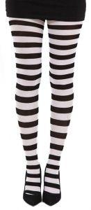 Pamela Mann - Stripey Tights - Black & White