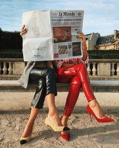#french #paris #streetstyle #red #streetfashion