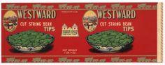 WESTWARD Vintage San Jose Bean Can Label
