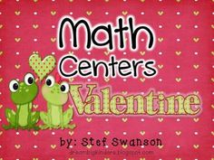 4 Valentine's Day Math Center Activities! {Kindergarten Common Core Aligned} Students will use one-to-one correspondence to count and sort objects. Students will match numbers to number words. Students will build five and ten in multiple ways.