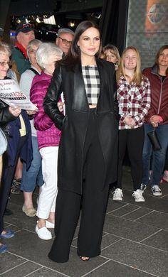 Lana arriving at Good Morning America this morning. #OUAT