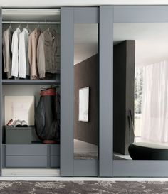 Closet doors are vital, however usually forgotten when it involves space design. Produce a face-lift for your room with these closet door ideas. It is essential to create distinct closet door ideas to beautify your home style. Bedroom Wardrobe, Wardrobe Closet, Master Closet, Hall Closet, Closet Wall, Closet Space, Curtain Wardrobe, Curtain Closet, Front Closet