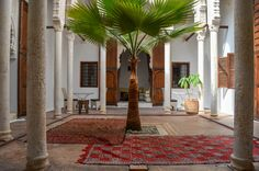 Patio du riad Azahra, Rabat Places Ive Been, Oversized Mirror, Patio, Furniture, Home Decor, Morocco, Decoration Home, Room Decor, Home Furnishings