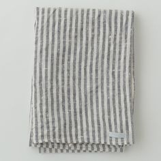 Linen Chambray Towels in navy stripe   by Fog Linen