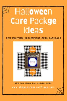 Visit here to check out hundreds of care package designs in Sea to Sea with Love's shop! If you are looking for an easy way to decorate your care package, then this is the shop for you! Get inspired to try out these care package sticker kits. You will love how easy they are to use. They are perfect for deployment care packages and military care package. They are also great for care packages for college students as well as long distance relationship gifts. Creative care packages made easy! I Care Packages, Halloween Care Packages, Birthday Care Packages, Deployment Care Packages, Military Deployment, Long Distance Relationship Gifts, Halloween Items, College Students, Packaging Design