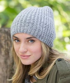 The Nice and Easy Beanie is a great staple for your cold weather wardrobe. Slip this easy-fit, neutral beanie on with any outfit and brave the elements while still looking stylish. This is an easy knitting pattern made with smooth and comfy yarn. Before you know it, you will have a wonderful knit hat you'll want to wear again and again. The knitted beanie has a relaxed look and feel. You will find yourself reaching for it every time you walk out the door this fall or winter.