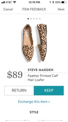 I don't usually love loafers, but these printed ones are great!