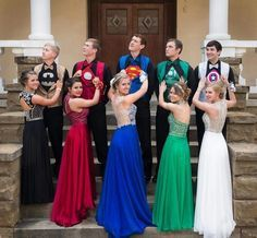 A group of teens from Arkansas is blowing up online after they showed up to their prom in perfectly-coordinated superhero outfits.   People Are Loving These Teens And Their Perfectly-Coordinated Superhero Prom Outfits - BuzzFeed News