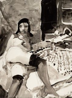 Richard Diebenkorn, Untitled, 1962; ink and graphite on paper