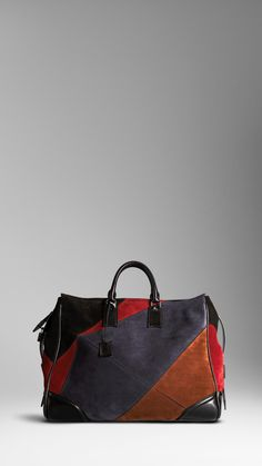 Burberry - SUEDE PATCHWORK HOLDALL