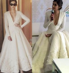 Sonam Kapoor cannes 2015 in a white gown by ashi studio .