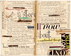 all-text journal collage by Kathryn Cramer