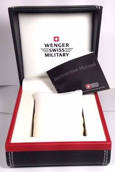 Wenger Swiss Military Watch Box Sleeve Instruction Booklet #Wenger
