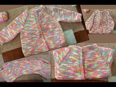 Baby Cardigan Starts from Neck Part I ( गले से शुरू होने वाला तरीके का स्वेटर) - YouTube