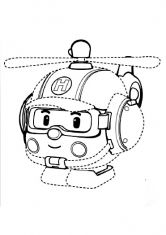 Robocar Poli coloring pages Amber for kids, printable free ...