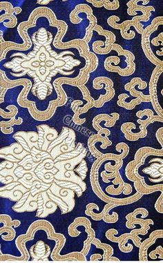 0d320315aaf Big picture of Silk Brocade Fabric - Traditional Chinese Blessing Floral  Pattern 8