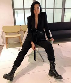 The Future Is Now A Wearable Cyberpunk Inspo Album Tomboy Outfits Album Cyberpunk Future inspo Wearable Edgy Outfits, Grunge Outfits, Cool Outfits, Fashion Outfits, Womens Fashion, Badass Women Fashion, Androgynous Fashion Women, Punk Rock Outfits, Androgyny