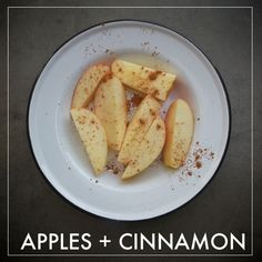Healthy Snack- Apples Cinnamon // shutterbean Check out the website for more. Whole 30 Snacks, Whole 30 Diet, Whole 30 Recipes, Healthy Food List, Easy Healthy Dinners, Healthy Snacks, Healthy Recipes, Healthy Eating, Gourmet Recipes