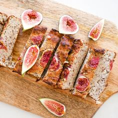 This vegan version of my popular banana bread recipe is so easy, sweet and delicious, you'd never guess it's a healthy treat! Fig Recipes, Banana Bread Recipes, Lean Recipes, Lunch Recipes, Recipies, Healthy Recipes, Chicken Treats, Chicken Recipes, Fig Bread