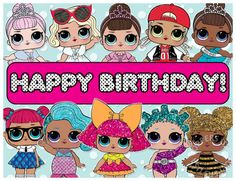 """EDIBLE LOL Surprise Dolls Cake Topper Birthday Party Wafer Paper Sheet (8x10.5"""")"""