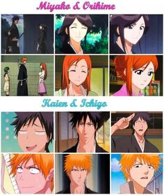 I knew about Kaien and Ichigo but never noticed Miyako and Orihime... interesting
