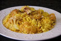 Creando en la cocina: ARROZ CON BACALAO Y COLIFLOR
