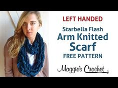 Starbella Flash Arm Knitted Scarf - Left Handed - YouTube