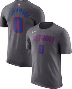 5b22dc15e5d Nike Youth Detroit Pistons Andre Drummond  0 Dri-FIT Grey T-Shirt
