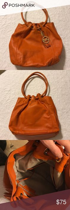 """MICHAEL by Michael Kors purse Orange leather hobo purse. Dimensions excluding handles are approximately 10"""" x 10"""" x 7"""". Light wear. MICHAEL Michael Kors Bags Hobos"""