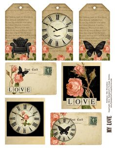 Happy freebie day!  Here's a sheet of romantic tags, postcards and polaroids.  They are shabby and chic and would be great in your Valentine's Day projects, or for birthdays and more. Always Free For