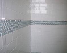 black bathroom tile accent ideas - Google Search
