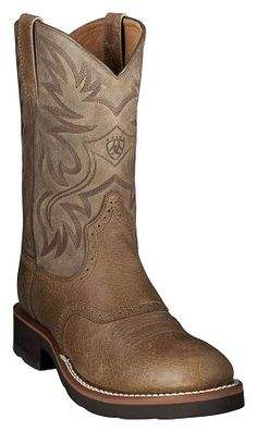 Departments - Mens Ariat Heritage Crepe Soled Brn Earth Cowboy Boots