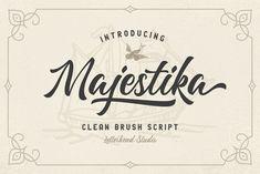 Majestika - Clean Brush Script by Letterhend on @creativemarket