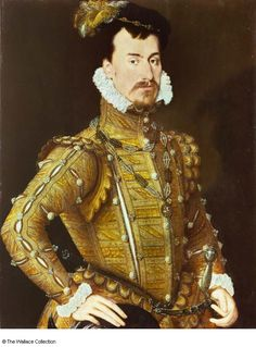 Robert Dudley, earl of Leicester, age 28 (from inscription), c. 1560-65. Attributed to Steven van der Meulen. Wallace Collection, London. Elizabeth's favourite and possibly her lover.