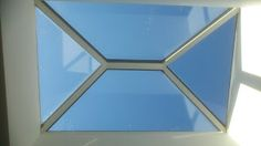 Our glass pyramid #rooflights have beautifully clean lines - just 38mm internal sight lines.