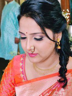 Makeup Bar, Nude Makeup, Indian Natural Beauty, Indian Beauty Saree, Beautiful Girl Photo, Beautiful Women, Nose Ring Jewelry, Anushka Photos, Glamorous Makeup