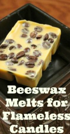 Make your own wax tarts for your flameless candle warmers out of healthy beeswax instead of toxic paraffin!