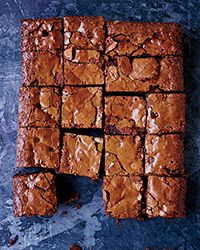Gluten Free Double Chocolate-Peanut Butter Chip Brownies Recipe on Food & Wine