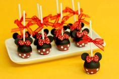 Minnie cake pops