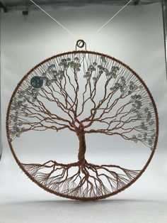 12 inch / Handmade / Copper wire / Tree of Life / One of a Kind / Original Sculpture / Unique gift Wire Tree Sculpture, Sculpture Art, Mandala, Wire Trees, Handmade Copper, Handmade Jewelry, Macrame Art, Celtic Designs, Wire Crafts